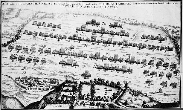 The Battle of Naseby during the English Civil War,...