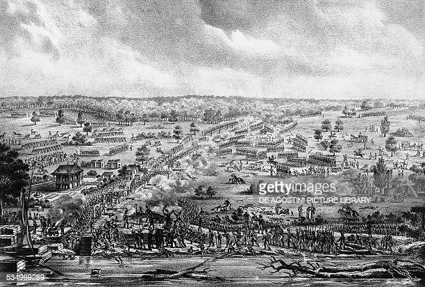 The Battle of New Orleans January 8 during the AngloAmerican War of 1812 engraving United States of America 19th century