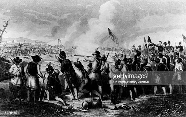 The Battle of New Orleans January 8th 1815 by Oliver Pelton Hammatt Billings Circa late 19th century Print showing General Andrew Jackson and US...