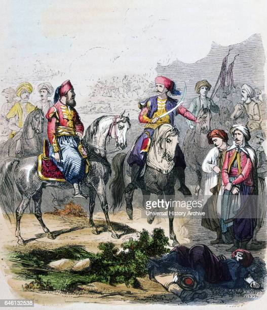 The Battle of Nezib June 24 between Egypt and the Ottoman Empire The Egyptians were led by Ibrahim Pasha Watercolour by the French painter...