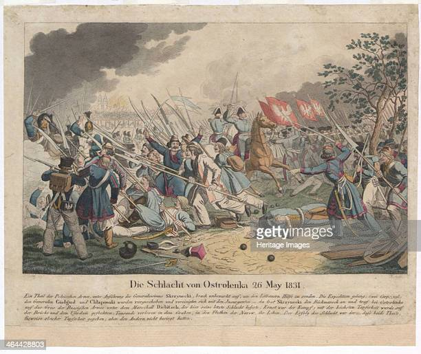 The Battle of Ostroleka on 26 May 1831. From a private collection.