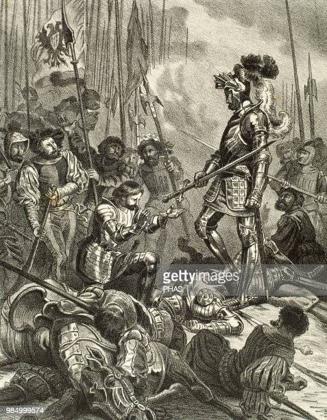 The battle of Pavia Held on February 24 1525 between the French army under King Francis I and GermanSpanish troops of Emperor Charles V who won the...