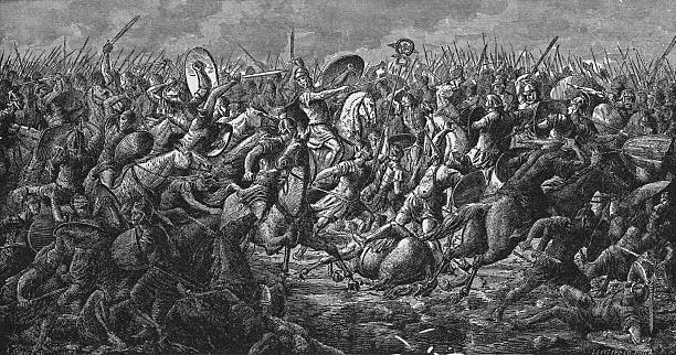 The Battle of Pharsalus in Greece during Caesar's Civil...