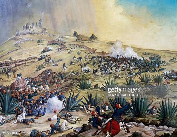 The Battle of Puebla May 5 1862 by Patricio Ramos Ortega oil on canvas Mexico 19th century Citta' Del Messico Museo Nacional De Historia