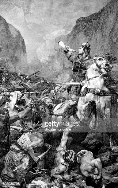 The Battle of Roncevaux Pas Roncesvalle in 778 saw a large force of Basques ambush a part of Charlemagne's army in Roncevaux Pass a high mountain...