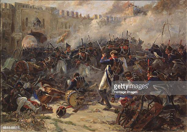 The battle of Smolensk on August 1812, 1956. Found in the collection of the State Borodino War and History Museum, Moscow.