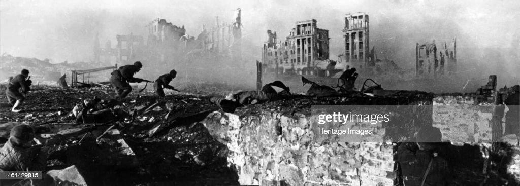 The Battle of Stalingrad. Artist: Anonymous : News Photo