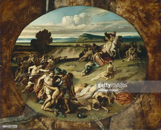 The Battle of the Amazons 1857 Found in the collection of the Landesmuseum für Kunst und Kulturgeschichte Oldenburg