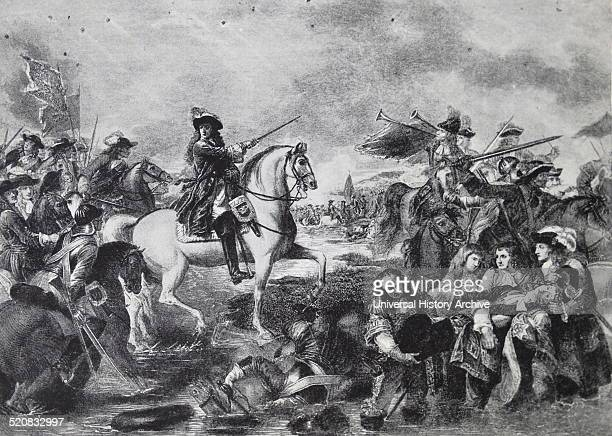The Battle of the Boyne 1690 between two rival claimants of the English Scottish and Irish thrones the Catholic James VII II and the Protestant...