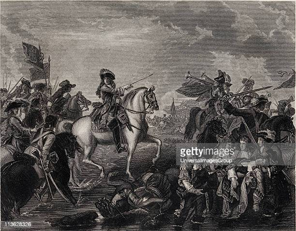 The Battle of the Boyne, James II seized by the mob as a fugitive Jesuit on the Isle of Sheppy. Painted by B.West.R.A. Engraved by J.Rogers.