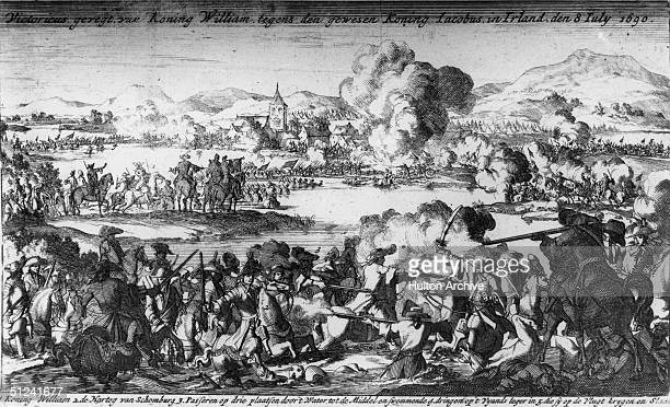 1690 The Battle of the Boyne where the Protestant William of Orange claimed the throne of England by defeating the Catholic James II who fled to...