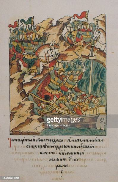 The Battle of the Neva on July 15 1240 Found in the Collection of Russian National Library St Petersburg