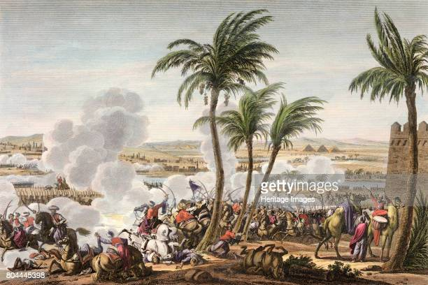The Battle of the Pyramids, Egypt, 3 Thermidor, Year 6 . Napoleon defeated the Mamluk army of the Ottoman Turks, conquering Egypt for France. Artist...