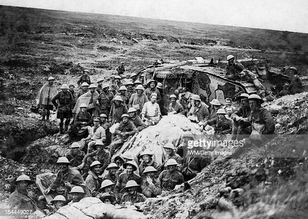 The Battle Of The Somme 1 July 18 November 1916 The Battle of Flers Courcelette 15 22 September The Mark I tank surrounded by some of the infantry...