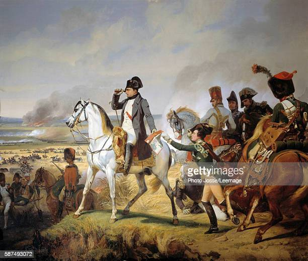 The Battle of Wagram, 6 July 1809. Painting by Emil Jean-Horace Vernet called Horace Vernet , circa 1835. Oil on canvas. 4,65 x 5,43 m. Castle...