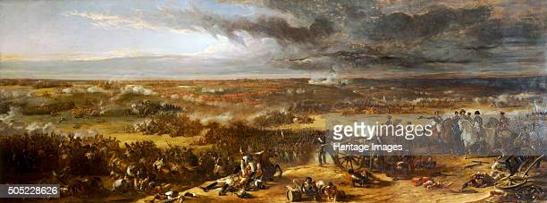 'The Battle of Waterloo' 1815 Painting in the collection at Apsley House London Artist William Allan