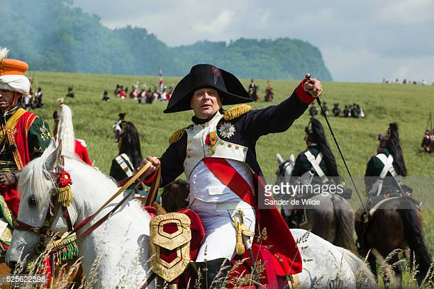 The Battle of Waterloo was reenacted by a few hundred actors in the fields near Waterloo where Napoleon Bonaparte and his French army were conquered...