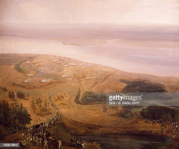 The Battle of Yorktown October 1781 surveys by topographer Alexandre Berthier American War of Independence the United States 18th century