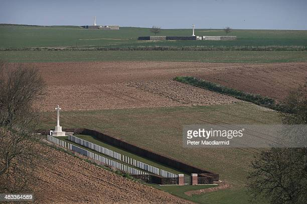 The battlefield of the Somme contains many cemeteries BeaumontHamel Redan Ridge Cemetery No2 and Redan Ridge Cemetery No 3 on March 27 2014 in...