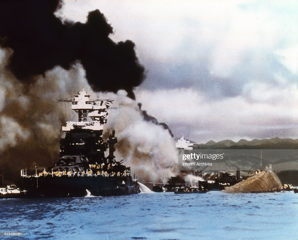 Scenes From The Attack On Pearl Harbor : News Photo