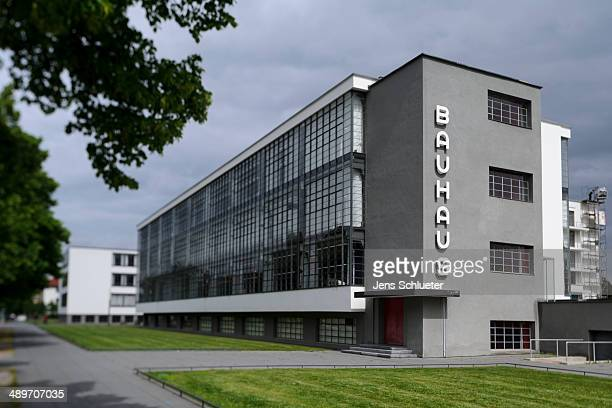 The Bauhaus is seen on May 9 2014 in DessauRosslau Germany All Master Houses were built in the 1920s by Walter Gropius head of the Bauhaus school...