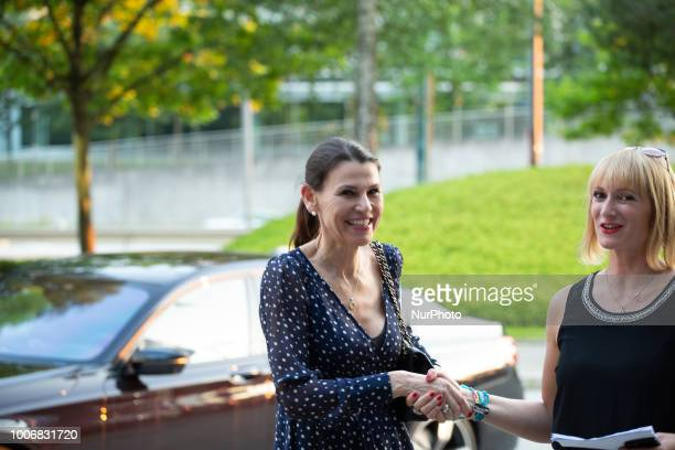 The Bavarian minister for Science and Art Marion Kiechle arrives at the FranzJosefStraussHaus At the 'Lange Nacht der Frauen' 'Long night of the...