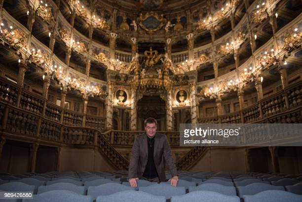 The Bavarian Minister of Finance Markus Soeder stands in the Magravial Opera House in Bayreuth Germany 21 December 2017 Soeder learned about the...