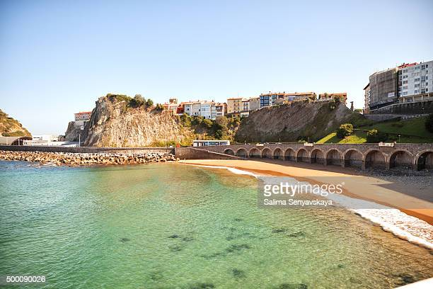 the bay and waterfront of getaria - balenciaga designer label stock pictures, royalty-free photos & images