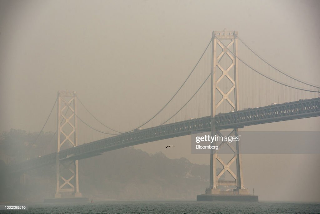 California Air Quality As Wildfires Burn : News Photo