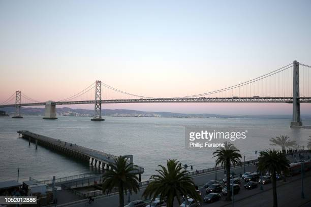 The Bay Bridge is seen at WIRED25 Work Inside San Francisco's Most Innovative Workplaces on October 12 2018 in San Francisco California