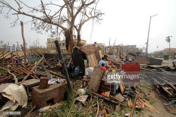 The bay of Bengal Sea's eastern coast town is seen aftermath of the cyclone Fani 65 km away from the eastern Indian state Odisha's capital city...