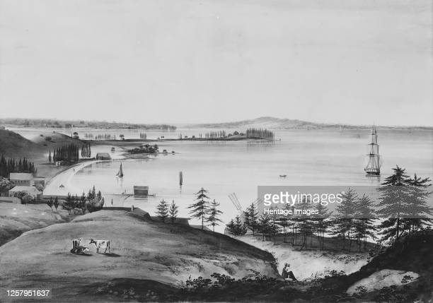 The Bay of New York Looking to the Narrows and Staten Island Taken from Brooklyn Heights 182025 Artist William Guy Wall