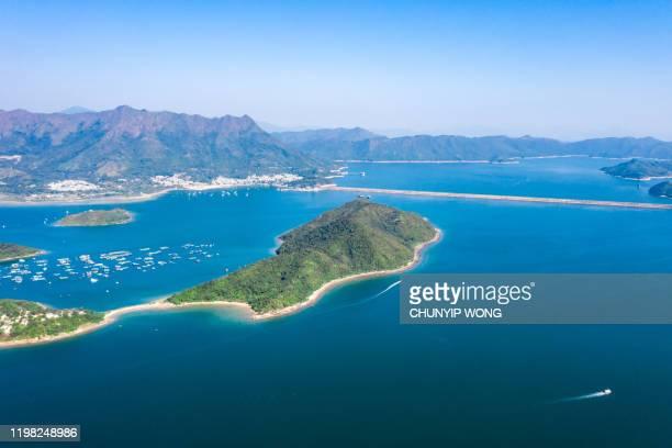シューン・ワン・ホイ・タイ・ポ湾 - 南シナ海 ストックフォトと画像