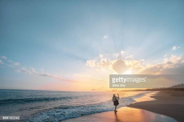 The bay sunset in San Ya, Hai Nan