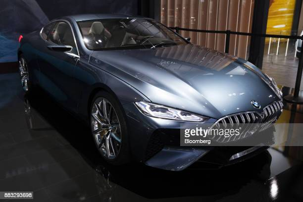 The Bayerische Motoren Werke AG 8 Series concept electric vehicle is displayed during AutoMobility LA ahead of the Los Angeles Auto Show in Los...