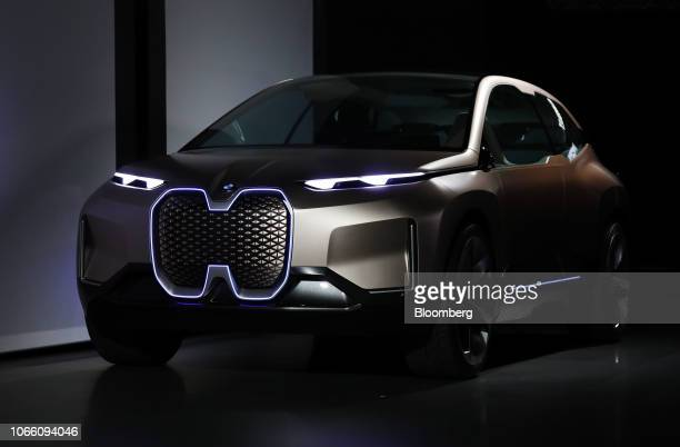The Bayerische Motoren Werke AG iNext concept electric sport utility vehicle is displayed during AutoMobility LA ahead of the Los Angeles Auto Show...