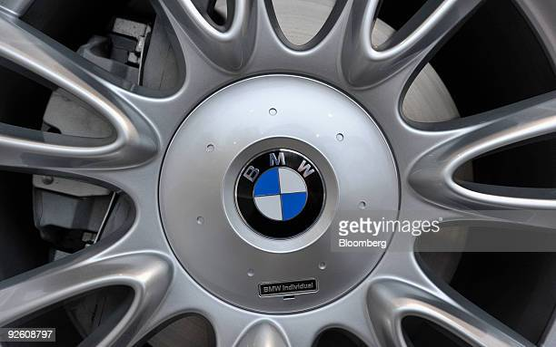 The Bayerische Motoren Werke AG logo is seen on a X6 M automobile at a BMW dealership in Munich, Germany, on Monday, Nov. 2, 2009. The company...
