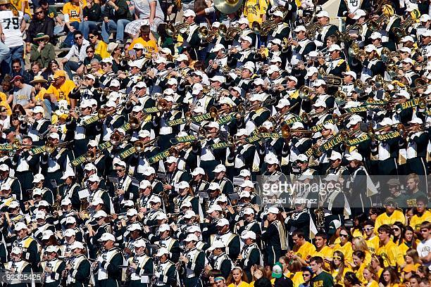 The Baylor Bears band at Floyd Casey Stadium on October 24 2009 in Waco Texas
