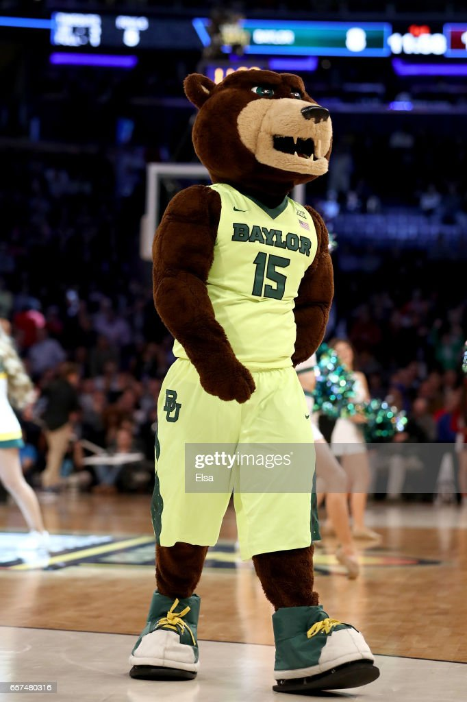 The Baylor Bears Mascot Performs Against The South Carolina