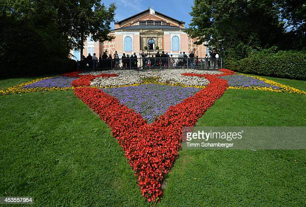 The Bayreuth Festival Theatre is pictured on August 12, 2014 in Bayreuth, Germany.
