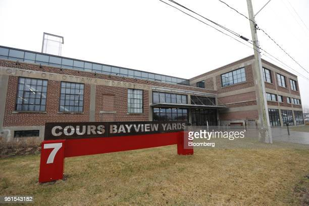The Bayview Yards innovation center stands in Ottawa Ontario Canada on Wednesday April 25 2018 Bayview Yards is a federallyincorporated nonprofit...