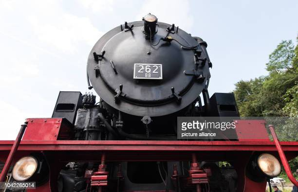 The BB 262 steam locomotive for the Sauschwaenzlebahn railway leaves Weizen Station near Blumberg Germany 16 July 2016 The SWR television serial...