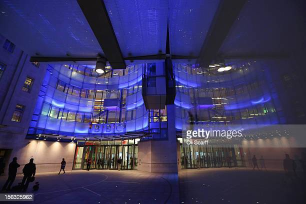 The BBC headquarters at New Broadcasting House is illuminated at night on November 13 2012 in London England Tim Davie has been appointed the acting...