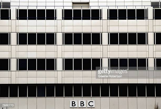 The BBC headquarters is seen where staff staged a mass walk out in protest at perceived political interference in the corporations affairs on...