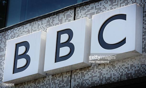 The BBC logo is displayed above the main entrance to Television Centre on October 18 2007 in London England In order to make 2 billion GBP of savings...