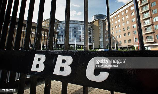 The BBC logo is displayed on entrance gates to Television Centre on October 18 2007 in London In order to make 2 billion of savings the BBC will sell...