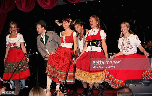 LONDON ENGLAND SEPTEMBER 24 The BBC news team performs at the 'Newsroom�s Got Talent' event held in aid of Leonard Cheshire Disability and Helen...