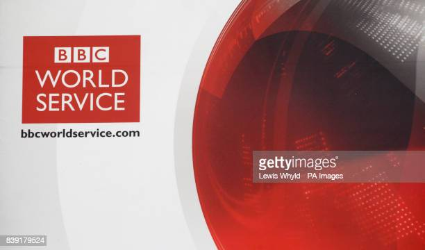 The BBC World Service logo after the BBC confirmed plans to axe 650 jobs under huge cost savings