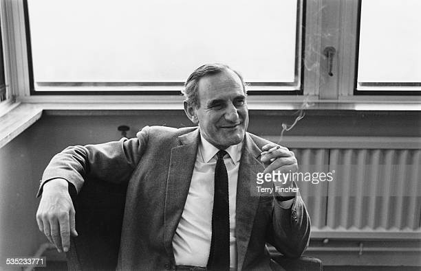 The BBC's newlyappointed Controller of Programmes Huw Wheldon in his office at BBC TV Centre London 26th February 1965