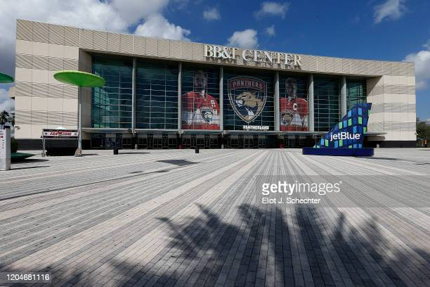 The BB&T Center home of the Florida Panthers prior to hosting the Vegas Golden Knights on February 6, 2020 in Sunrise, Florida.
